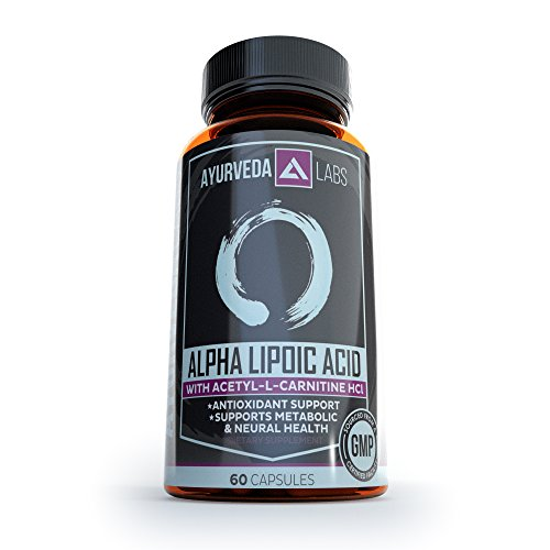 Alpha Lipoic Acid with Acetyl L-Carnitine - ALA/ALCAR - Brain Support, Weight Loss, Energy, Anti-Aging, Powerful Antioxidant and Heart Health – 60 Capsules