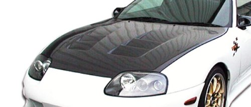Carbon Creations ED-GDW-624 TS-1 Hood - 1 Piece Body Kit - Compatible For Toyota Supra 1993-1998