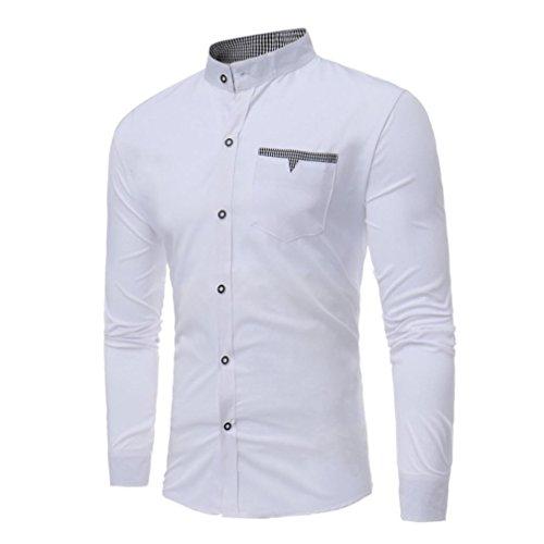 Uni Infroissable Repassage Chevalier Manches Chemise Slim Homme Fit Longues Blanc xxl S Sans Coton Couleur 8xAf0xqZw