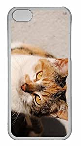 iPhone 5C Case, Personalized Custom The Yellow Cat for iPhone 5C PC Clear Case