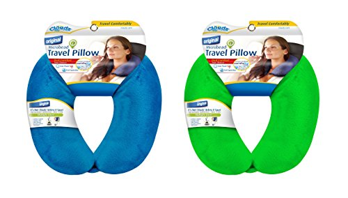 Cloudz Bright Blue Microbead Travel Neck Pillow and Cloudz B