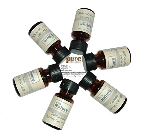 Pure Source India Good quality 6 In one aroma oil pack (Lavender , Rose ,Citronella , Eucalyptus,