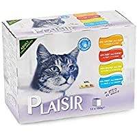 Plaisir Cats Chunks in Gravy 12 Pouches of 100g in Multi Pack