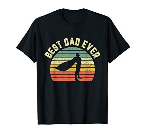 Mens Vintage Best Dad Ever Shirt Superhero Fun Father's Day Shirt]()