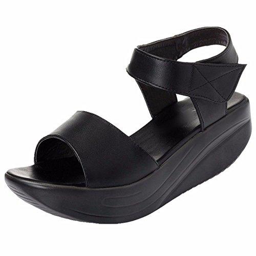 GTVERNH Mitte Sohle Wasserdicht Slope Ferse Dicke Sohle Kuchen Schuhe Schaukeln Schuhe Gemütlichen Einfachen Sandalen.