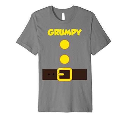 Mens Halloween Dwarf Costume Team Matching Shirts Grumpy Teacher XL Slate
