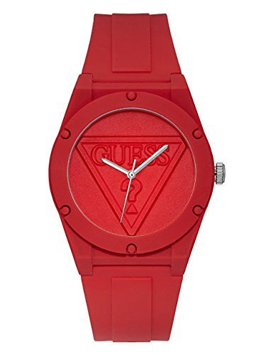 GUESS Women's Logo Silicone Casual Watch, Color: Red (Model: U0979L3)