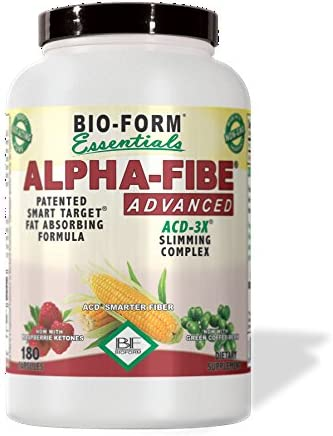 Alpha-Fibe Advanced ACD-3X Smart Weight Loss Slimming Complex for Men Women 180 Fast-Acting Capsules by Bio-Form Essentials