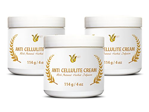 Cream for Cellulitis - Anti-Cellulite Cream - Cellulite Cream for Lower Legs - 3 Jars(12oz)