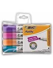 Pincel Marcador BIC Marking, Fashion, Ponta Redonda, 4 Cores, 4 unidades