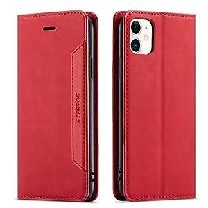 LAPOPNUT Coque iPhone 11 Pro Étui en Cuir PU Premium Housse avec Rabat Fentes pour Cartes Adsorption Magnétique Support…