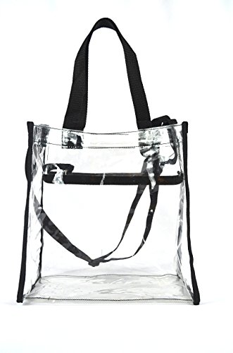 Clear Tote Stadium NFL Approved Bag 12 x 12 x 6 With Zipper and Shoulder Strap