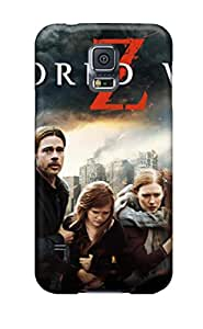 Tpu Case Cover For Galaxy S5 Strong Protect Case - World War Z Movie Design