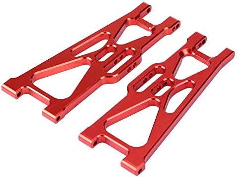 Zouminy 2 Stücke Aluminiumlegierung Zubehör Hinten Unteren Querlenker für HIMOTO E10MTL E10MT E10BP 1/10 RC Auto(rot)