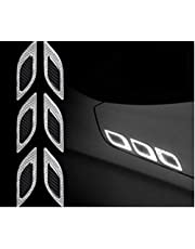 TRUE LINE Automotive Carbon Fiber Reflective Door Fender Flare Marker Trim Molding 6PC