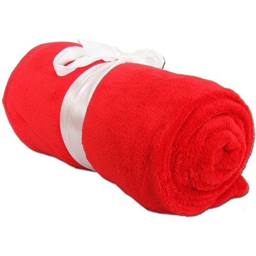 Threadart Super Soft Ultra Plush Fleece Blankets Red - 11 Colors Available ()