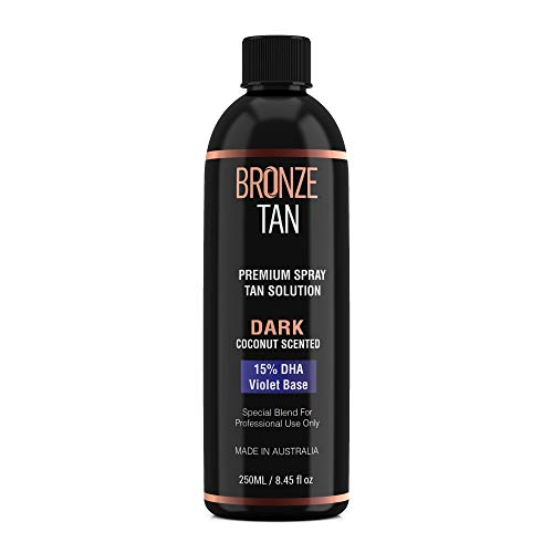 Bronze Tan Special DARK Blend Premium Spray Tan Solution For Spray Tanning Professionals – Coconut Scented Sunless…