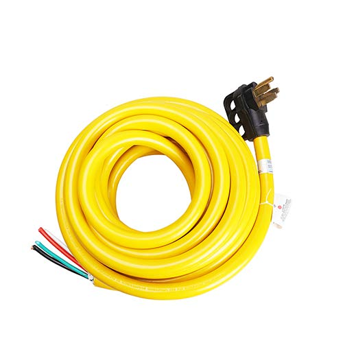 TREKPOWER RV Extension Cord(50Amp 36Ft power cable) Heavy Duty with One Handle for Outdoor use(for Boat to Shore/RV),(3/C 6AWG+1/C 8AWG).SJTW,(14-50P) (Truck/Trailer/Motorhome/Camper) -