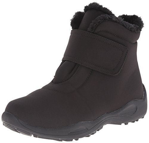 Propet Women's Madison Ankle Strap All Weather Boot, Black,