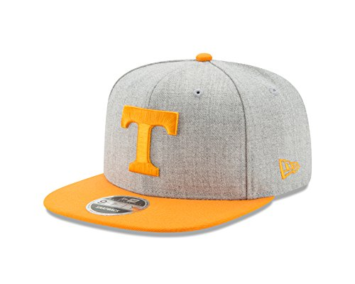 Ncaa New Era - New Era NCAA Tennessee Volunteers Heather Action 9Fifty Original Fit Snapback Cap, One Size, Gray