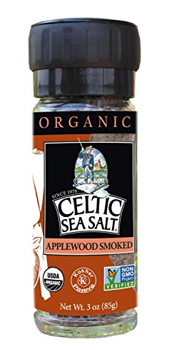 Gourmet Celtic Sea Salt Organic Applewood Smoked Seasoning Salt - Versatile Smoked Seasoning with a Bold, Distinctive Flavor, Hand Crafted and Nutritious, 3 Ounces