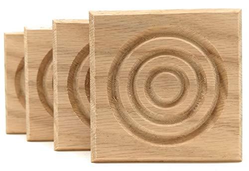 (Set of 4: Modern Bullseye Rosette Blocks, Made in USA (2.5