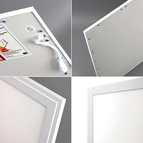 [10 Stück] Xtend LED Panel dimmbar 62x62 Tageslichtweiß 40W 6000K PMMA 0-10V ultraslim Rasterleuchte Odenwalddecke Serie PLe2.1