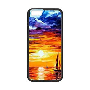 Painting of Boats in the Sea at Sunset iPhone 6 4.7 Inch Cell Phone Case Black toy pxf005_5750319