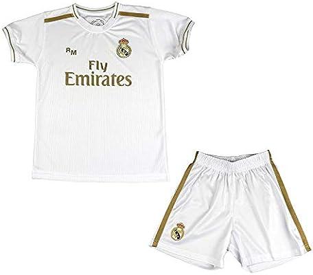 Real Madrid Conjunto Camiseta y Pantalón Primera Equipación Infantil Sergio Ramos Producto Oficial Licenciado Temporada 2019-2020 Color Blanco (Blanco, Talla 8): Amazon.es: Deportes y aire libre