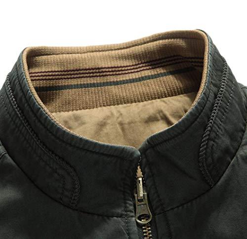Entrambi I Casual Giacca Kaki Di Lati E Uomini L'inverno Vento Usura Cotone Su A Degli Giacca All'aperto L'autunno 6xq11w