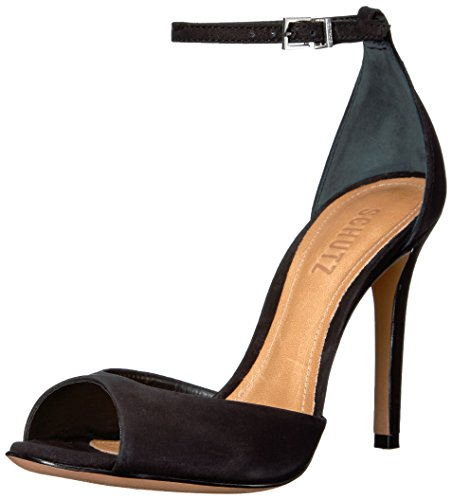 Schutz Women's Saasha Lee Heeled Sandal, Black, 6.5 M US