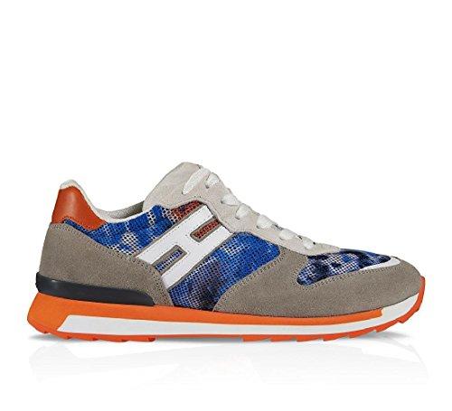 Rebelde de Hogan ante camuflaje azul zapatillas zapatos de hombre - Número de modelo: HXM2610R6708TZ2BA2 - Tamaño: 40 EU / 6 UK