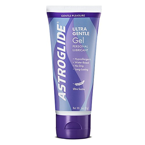 Astroglide Ultra Gentle Gel - Water Based Personal Lubricant that Lubricates & Moisturizes - Long-Lasting Lube Cleans Up Easily!