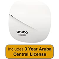 Aruba Networks Instant AP-207 Wireless Access Point, 802.11n/ac, 2x2:2, Dual Radio, Integrated Antenna with 3 Year Aruba Central