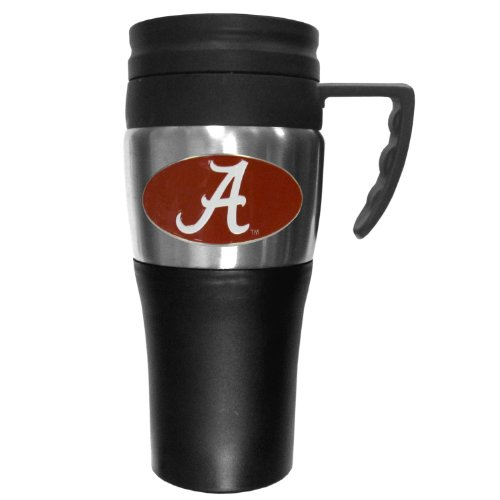 College NCAA Alabama Crimson Tide Steel Travel Mug with Handle