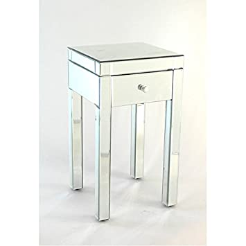 Etonnant Beveled Mirror End Table
