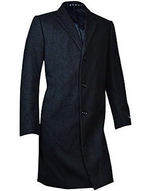 Mens Wool Herringbone Coat
