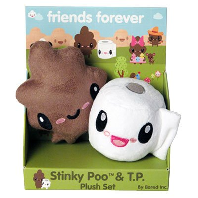 Stinky Poo and T.P. 'Friends Forever' Mini Plush Set is one of the many strange kids toys you can buy.