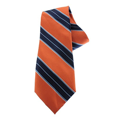 Tommy Hilfiger Mens Silk Striped Neck Tie Orange O/S
