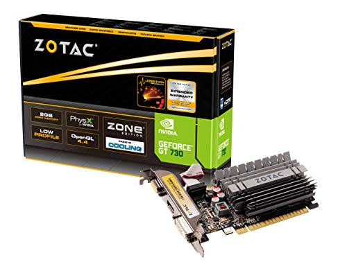 ZOTAC GeForce GT 730 Zone Edition 2GB DDR3 PCI Express HDMI DVI Graphics Card (ZT-71113-20L) (Best Dx11 Graphics Card)