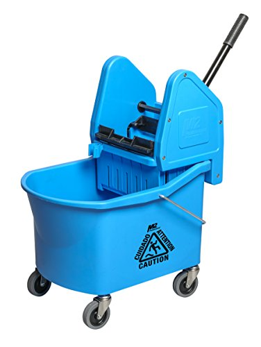 Down Press Wringer - M2 Professional 32Qt/30L Grizzly Mop Bucket with Down-Press Wringer - Blue