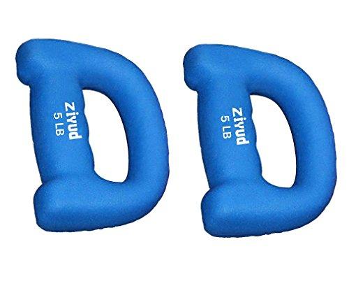 Ziyud Set of 2 Hand Shaped Neoprene Exercise Workout Jogging Walking Cardio Dumbbells Pair