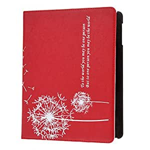 Purchase Dandelion Patterned Protective PU Leather Case Cover Stand Shell for iPad 2