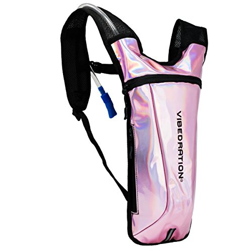 Holographic Rave Water Pack by Vibedration | 2L Water Capacity | Rave Fashion, Music Festival Gear, Hydration Pack
