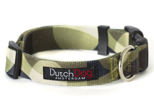 Dutch Dog Amsterdam Fashion Dog Collar, 15 to 20-Inch, Over the Moon