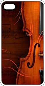Violin Clip White Plastic Case for Apple iPhone 5 or iPhone 5s