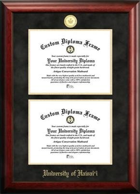 University of Hawaii Double Degree Diploma Frame by Diploma Frame Deals