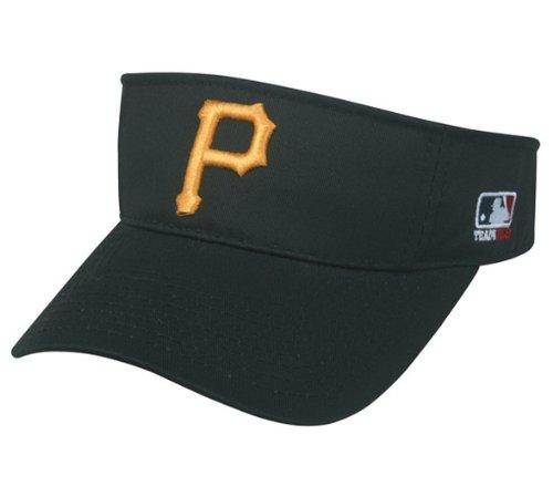 MLB ADULT Pittsburgh PIRATES Home BLACK VISOR Adjustable Velcro TWILL