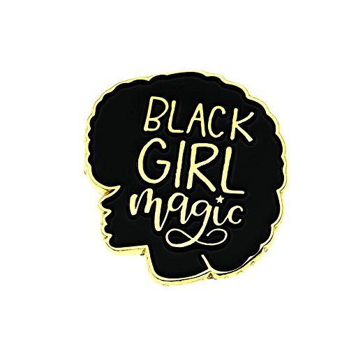 Ms.Clover Black Girl Magic Enamel Pin Black Girls Rock Black Lives Matter Gifts for Best Friend Jacket Pins.
