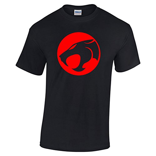 Thundercats 1980s Red Black Logo T-shirt